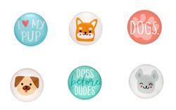 Dog Glass Magnets