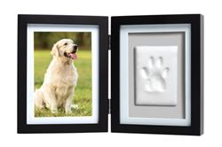 Pawprints Desk Frame and Clay, Black