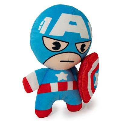 Dog Toy Squeaker Plush - Kawaii Captain America Standing Pose