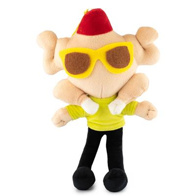 Dog Toy Squeaker Plush - Friends Monica's Turkey Head Pose