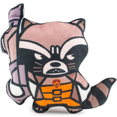 Dog Toy Squeaker Plush - Kawaii Rocket Raccoon Angry Pose