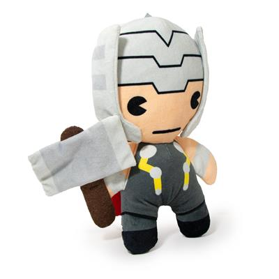 Dog Toy Squeaker Plush - Kawaii Thor with Hammer Standing Pose
