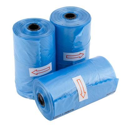 Bulk Poop Bags - 20 Per Roll - Blue
