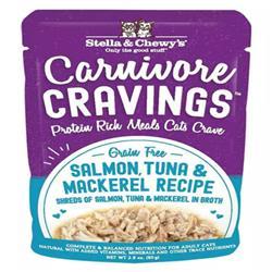 Stella & Chewys Cat Carnivore Cravings Shred Tuna & Mackerel 2.8oz. (Case of 24)