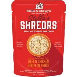Stella & Chewys Dog Shredrs Beef & Chicken 2.8oz. (Case of 24)
