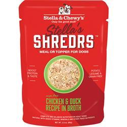 Stella & Chewys Dog Shredrs Chicken & Duck 2.8oz.(Case of 24)