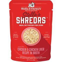 Stella & Chewys Dog Shredrs Chicken & Liver 2.8oz. (Case of 24)