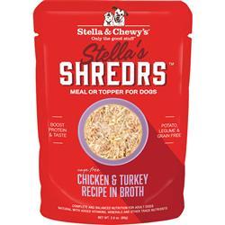 Stella & Chewys Dog Shredrs Chicken & Turkey 2.8oz.(Case of 24)