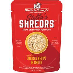 Stella & Chewys Dog Shredrs Chicken 2.8oz. (Case of 24)