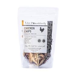 Chicken Chips, Freeze Dried Sliced Chicken Hearts, 3oz. Bag