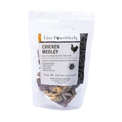 Chicken Medley, Freeze Dried Chicken Hearts, Livers and Gizzards, 3oz. Bag