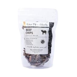 Beef Chips, Freeze Dried Beef  Hearts, 3.5oz. Bag