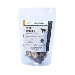 Beef Medley , Freeze Dried Beef Hearts, Beef Livers and Beef Kidneys, 4oz. Bag