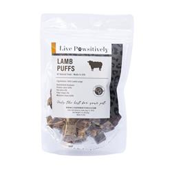 Lamb Puffs, Dehydrated Lamb Lung Treats for Dogs, 3oz Bag