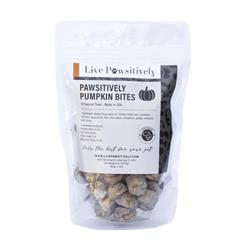 Pawsitively Pumpkin Bites, Soft Dog Treats for Dogs & Cats, 7.5oz Bag