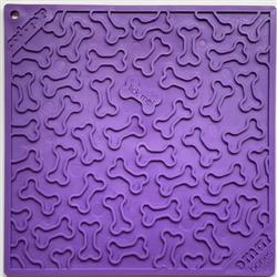 Bones Design Emat Enrichment Licking Mat - Purple