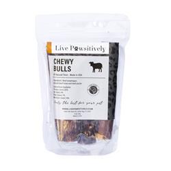 "6"" Chewy Bulls, 100% Natural Chews, 4 per Bag"