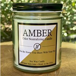 Amber 8oz. Odor Neutralizing Candle