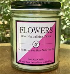 Flowers 8oz. Odor Neutralizing Candle