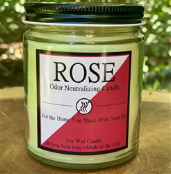 Rose 8oz. Odor Neutralizing Candle