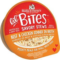 Stella & Chewys Dog Lil Bites Savory Stew Beef & Chicken 2.7oz. (Case of 12)