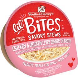 Stella & Chewys Dog Lil Bites Savory Stew Chicken & Liver 2.7oz. (Case of 12)