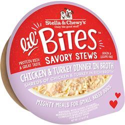 Stella & Chewys Dog Lil Bites Savory Stew Chicken & Turkey 2.7oz. (Case of 12)