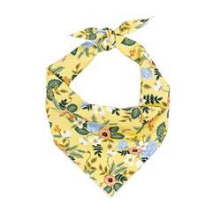 Flower Bandana, Floral Bandana, Spring Bandana, Tie Dog Bandana | Summer Bandana | Yellow Spring Bandanas