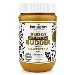 BUDDY BUDDER Ruff Ruff Raw - Unsalted Peanuts + Honey | 17oz. Jar
