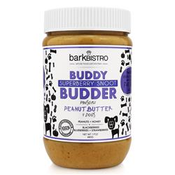 BUDDY BUDDER Superberry Snoot - Unsalted Peanuts + Strawberries + Blueberries + Blackberries + Honey | 17oz. Jar