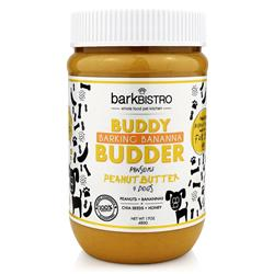 BUDDY BUDDER Barkin' Banana - Unsalted Peanuts + Banana + Chia Seeds + Honey | 17oz. Jar