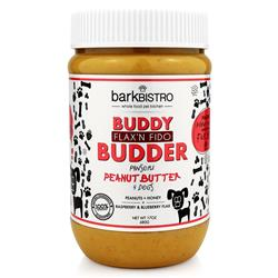 BUDDY BUDDER Flax'n Fido - Unsalted Peanuts + Berry Ground Flax + Honey | 17oz. Jar