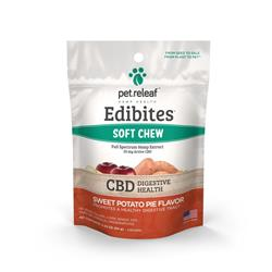 Edibites Digestive Soft Supplements Sweet Potato Pie by Pet Releaf