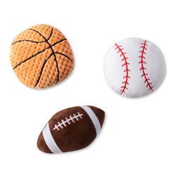 Sports Mini Plush Dog Toys - Set Of 3