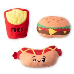 Fast Foods Mini Plush Dog Toys - Set Of 3