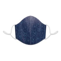 Navy Line Dogs Reusable 3-layer Cotton Face Mask