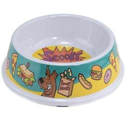 "Single Melamine Pet Bowl - 7.5"" (16oz) - Scooby Doo SCOOBY SNACKS + Scooby Doo Winking/Snacks Scattered"