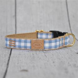"1"" Sparrow Gingham  Collars and Leads"