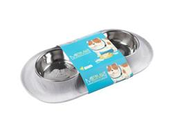 Messy Mutts Dog Double Feeder Marble 1.5 Cup