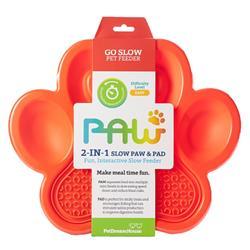PAW 2-in-1 Slow Feeder & Lick Pad Orange