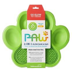 PAW 2-in-1 Slow Feeder & Lick Pad Green
