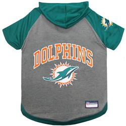 Miami Dolphins Hoody Dog Tee by Pets First