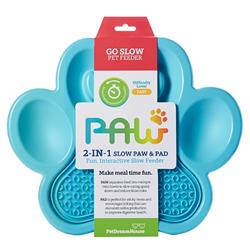 PAW 2-in-1 Slow Feeder & Lick Pad Blue
