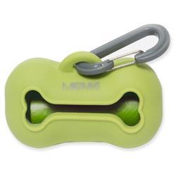 Messy Mutts Dog Wastebag Holder Green