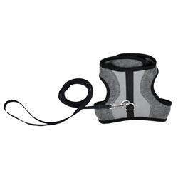 Adjustable Cat Wrap Harness with Leash