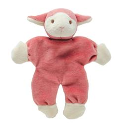"Beginnings Lolly 5"" Stuffless Pink Lamb w/ Crinkle Paper"