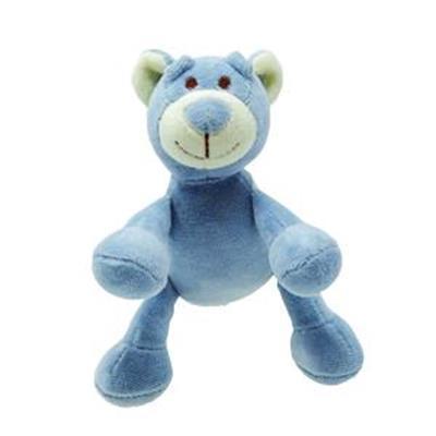 Beginnings Wally Blue Bear Plush Dog Toy