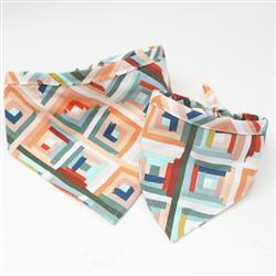 'Lolli' Geometric Print Canvas Dog Bandana