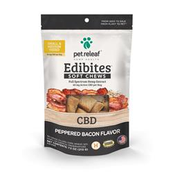 Editbites CBD Soft Supplements Peppered Bacon by Pet Releaf