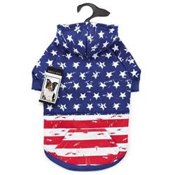 Zack & Zoey Distressed-Look American Flag Hoodies